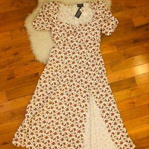 Danielle Berstein- Maxi Floral Peasant Dress